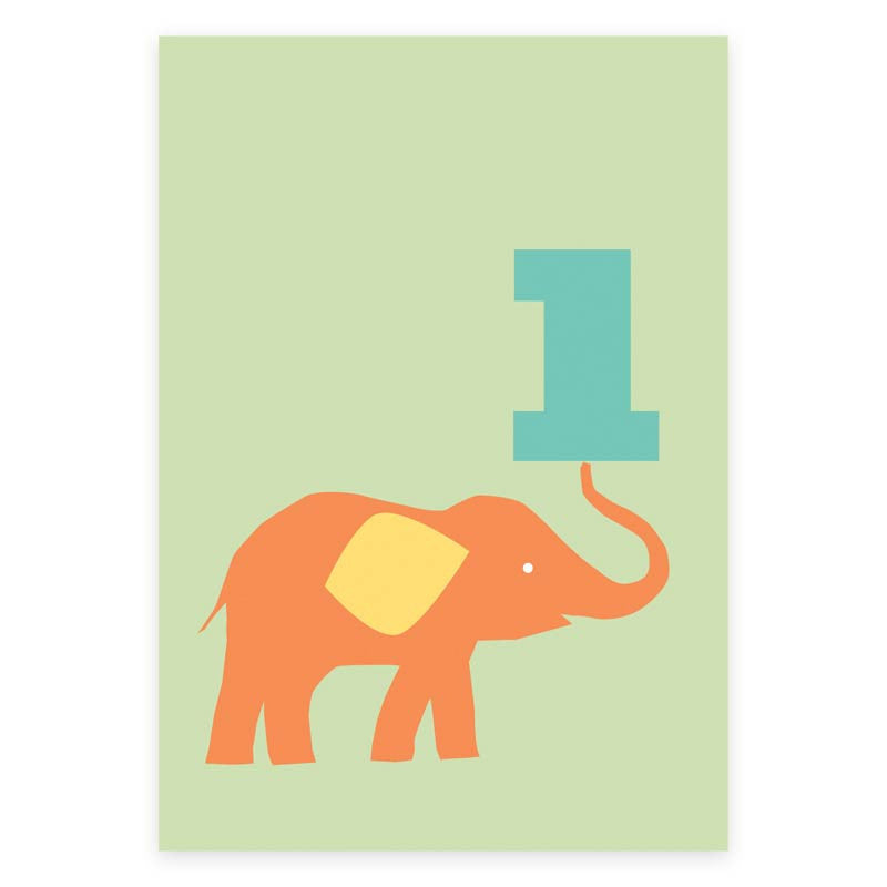 One Elephant Greeting Card