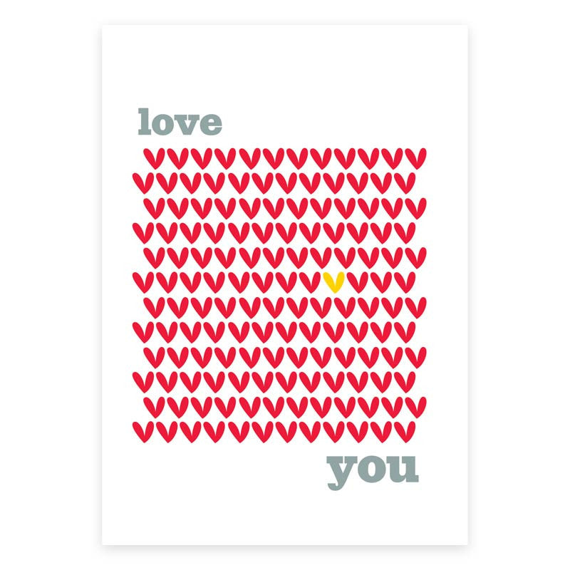 Love You Greeting Card - printspace