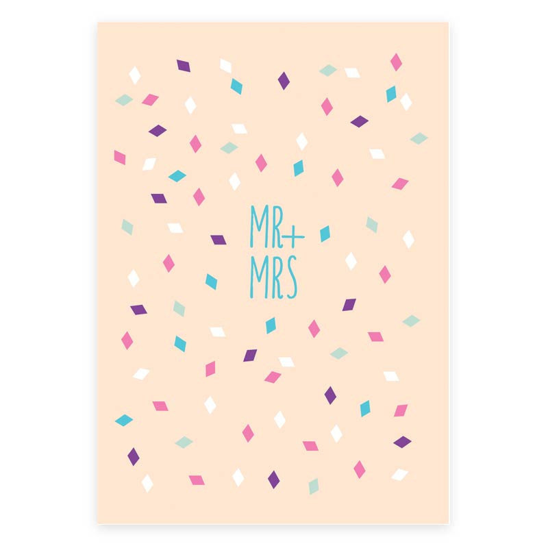 Mr and Mrs Greeting Card - printspace