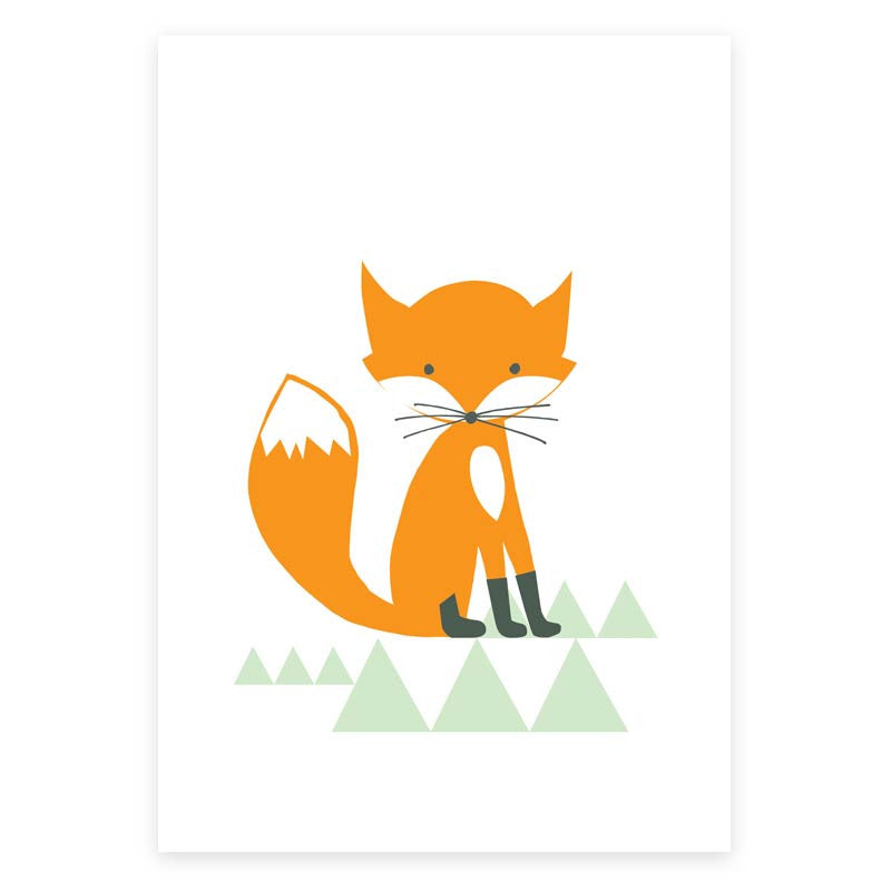 Mr Fox Greeting Card - printspace