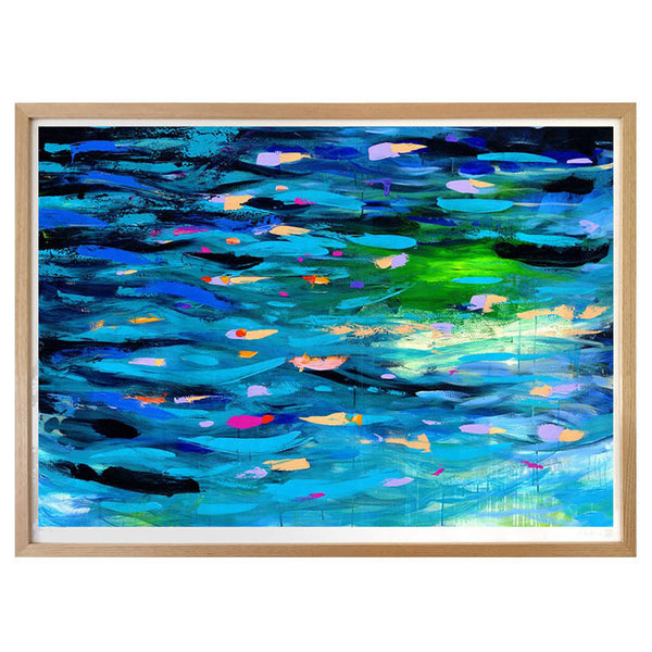 Glow River abstract landscape art print - printspace