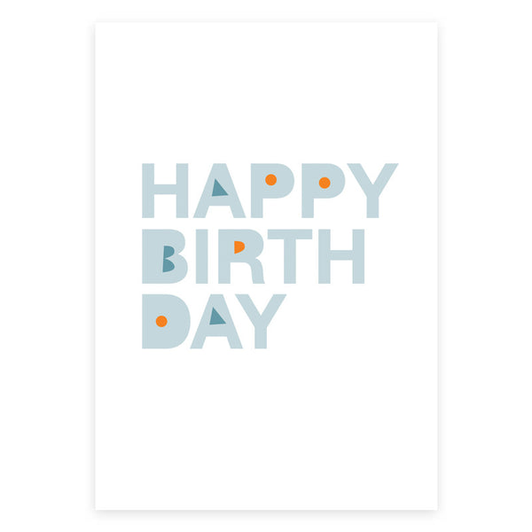 Happy Birthday Grey Greeting Card - printspace