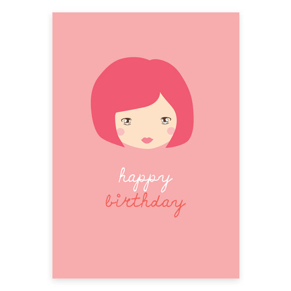 Happy Birthday Little Red Greeting Card