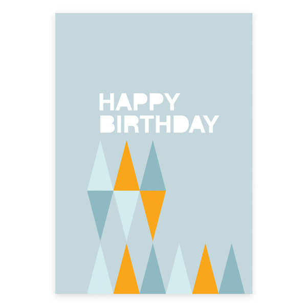 Happy Birthday Triangle Greeting Card - printspace