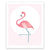Little Flamingo Nursery art print poster Printspace Mara Girling  wall art  Melbourne Australia graphic animal little flamingo pink pastel palette cute modern kids room decor