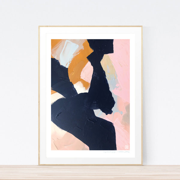 Mizutamari Janpu abstract art print by Nicholas Girling Printspace