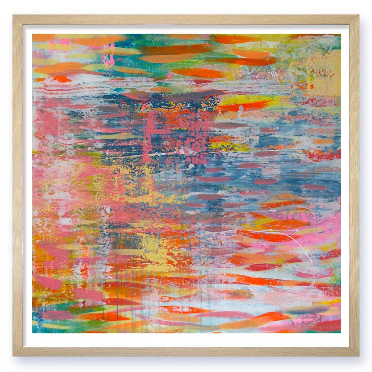 rainbow river Abstract Landscape Art Print nicholas girling printspace