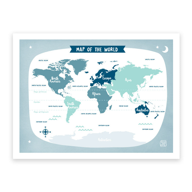 Melbourne Australia World Map.World Map Grey Art Print