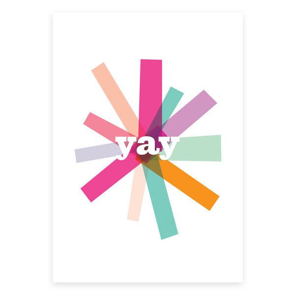 Yay Greeting Card - printspace