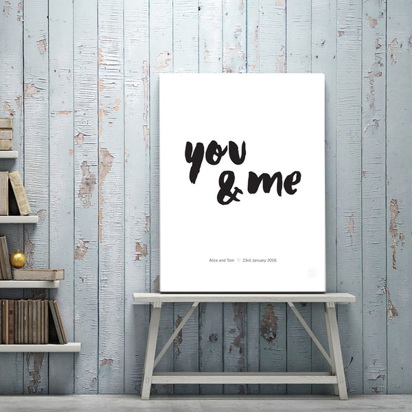 You & Me Art Print - printspace