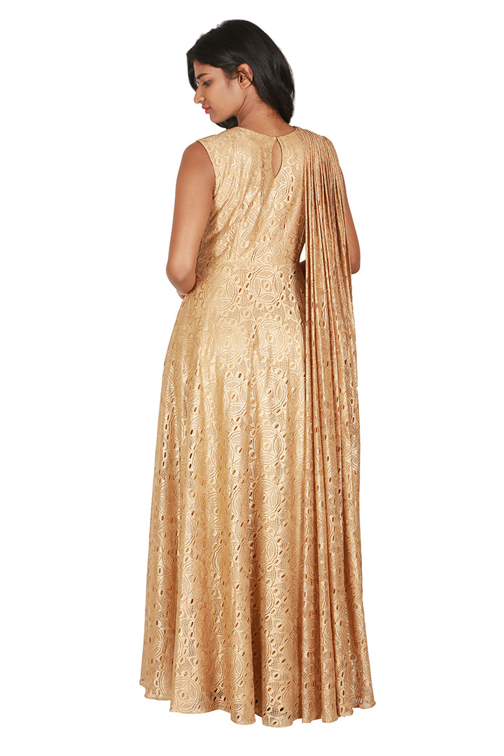 Gold lace gown - THE ATTIC GRAY