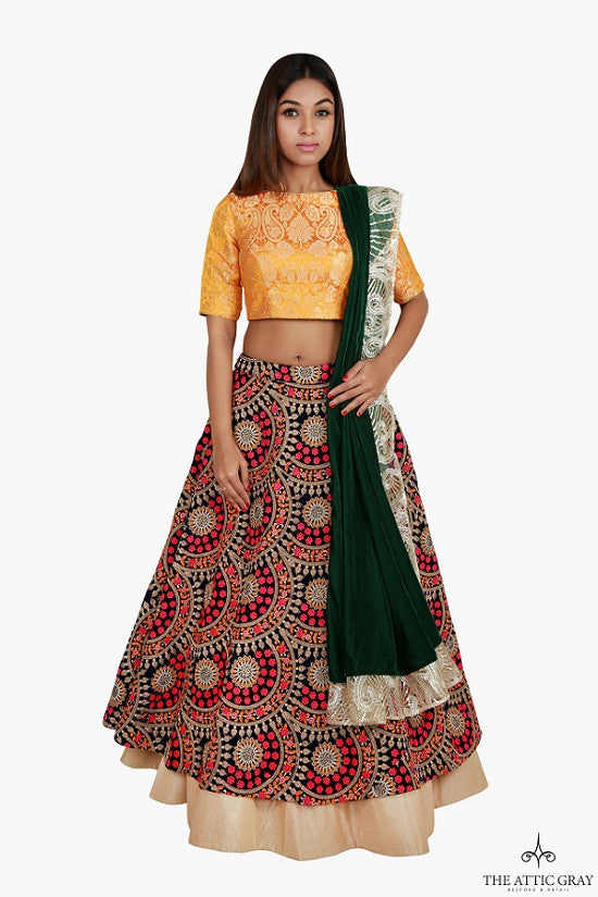 Multicolour lengha set