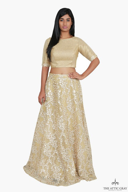 Gold Lengha Set
