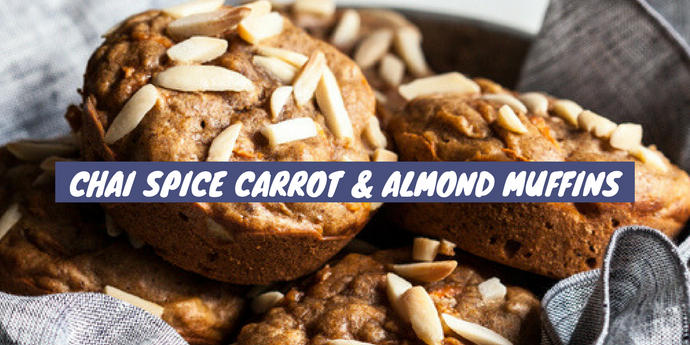 Recipe: Chai Spice Carrot & Almond Muffins