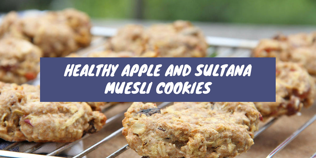 Healthy Apple and Sultana Muesli Cookies