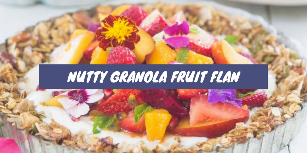 Nutty Granola Fruit Flan