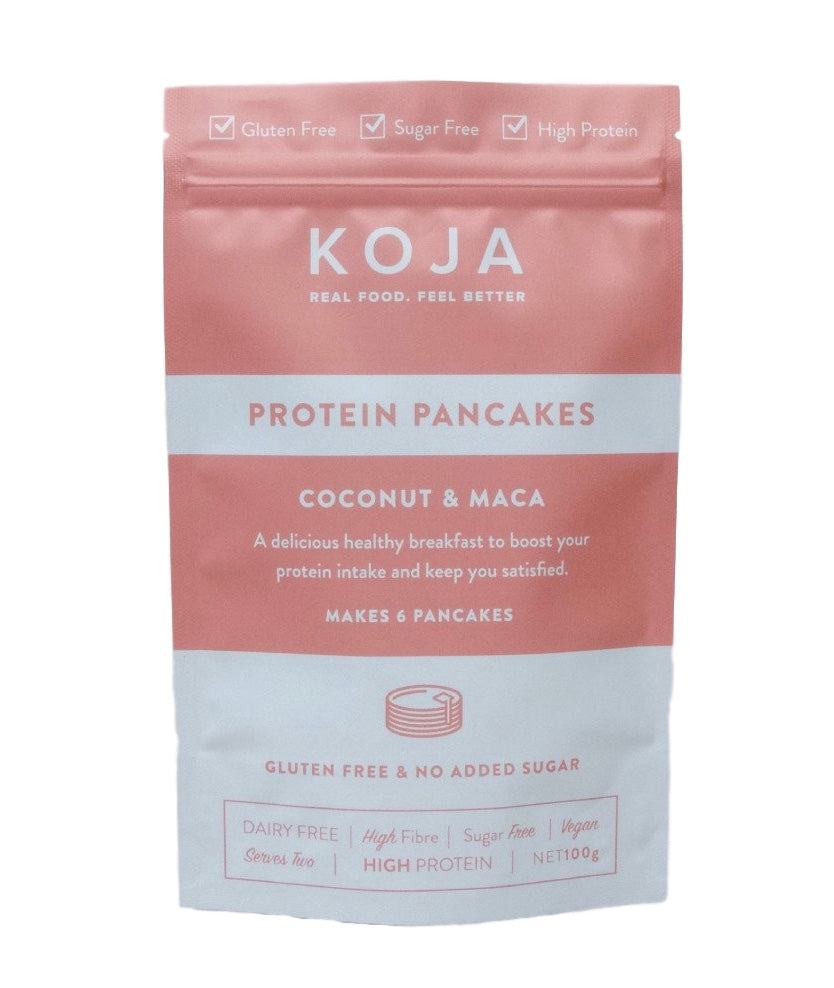 Gluten Free and Vegan Protein Pancake Mix - Coconut and Maca 100g by Koja