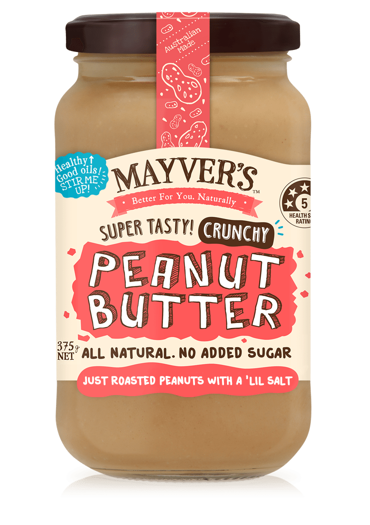 Natural Crunchy Peanut Butter 375g by Mayver's