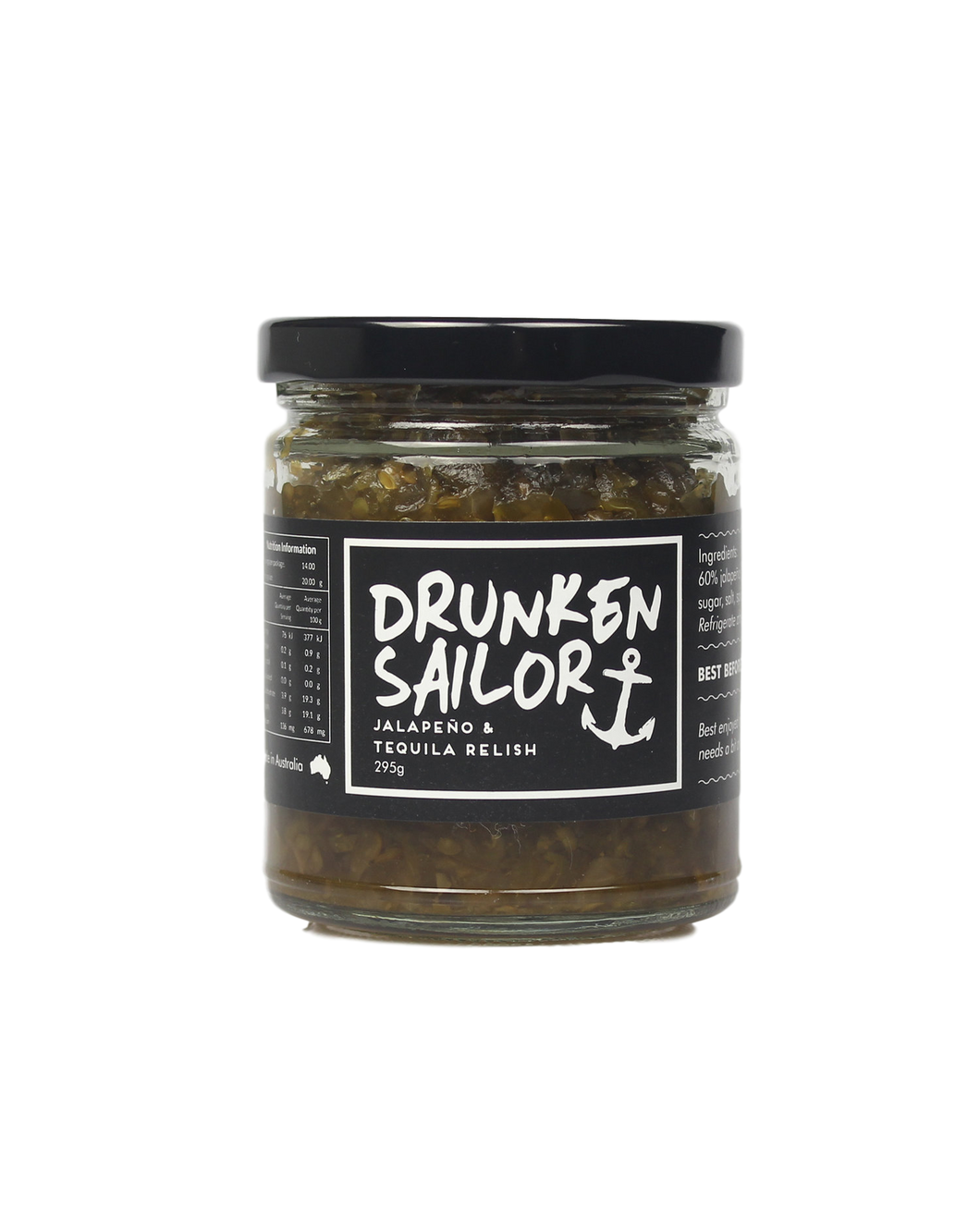 Jalapeño and Tequila Relish Relish 295g by Drunken Sailor
