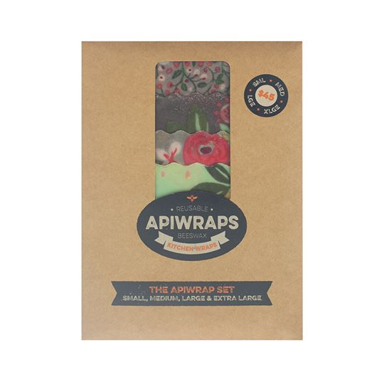 Beeswax Wraps - S, M, L, XL Wrap Set by Apiwraps