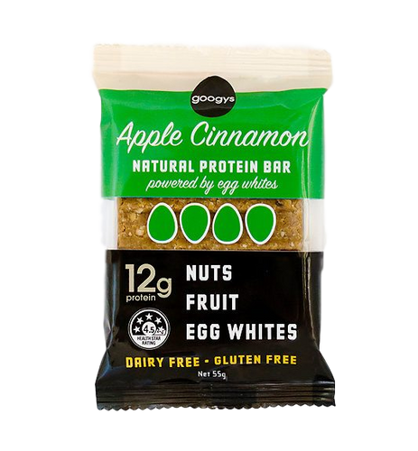 Natural Protein Bar - Apple Cinnamon 12g by Googys