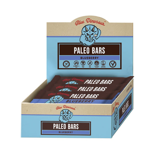 Blue Dinosaur Paleo Bars - Blueberry (12 x 45g Bars)