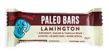 Blue Dinosaur Paleo Bars - Lamington (12 x 45g Bars)
