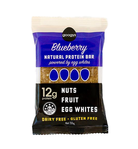 Natural Protein Bars: Blueberry 12g by Googys