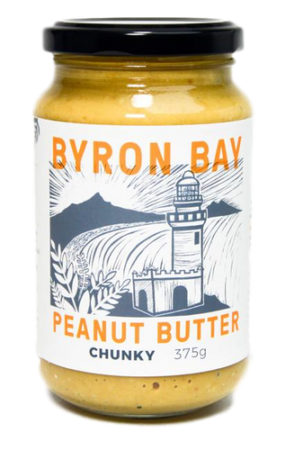 Organic Peanut Butter - Chunky 375g by Byron Bay Peanut Butter Company