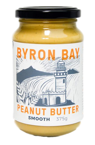 Organic Peanut Butter - Smooth 375g by Byron Bay Peanut Butter Company
