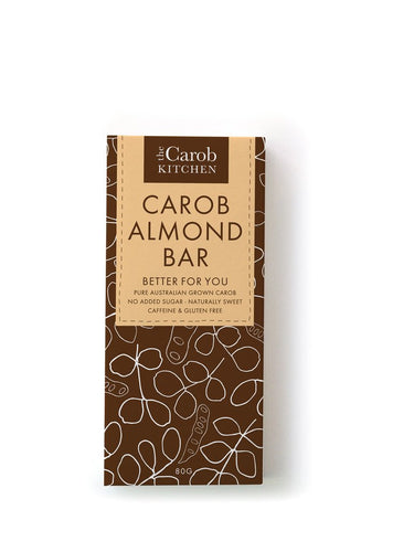 The Carob Kitchen: Carob Almond Bar 80g