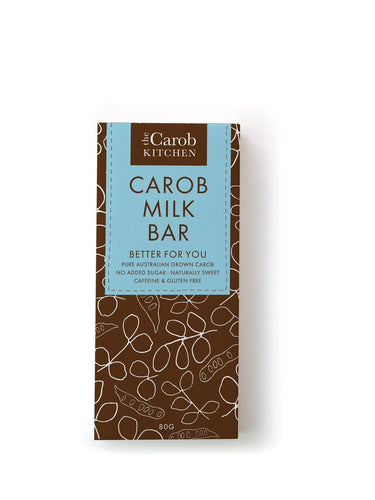 Carob Milk Chocolate Bar 80g by The Carob Kitchen