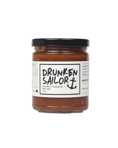 Smokey Tomato Relish 295g by Drunken Sailor