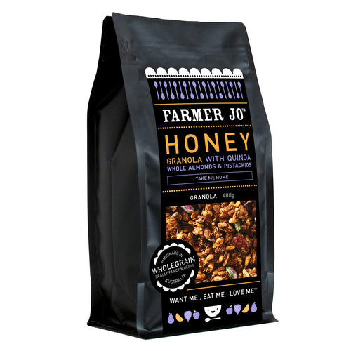 Farmer Jo - Honey Granola with Quinoa, Whole Almonds & Pistachios 400g
