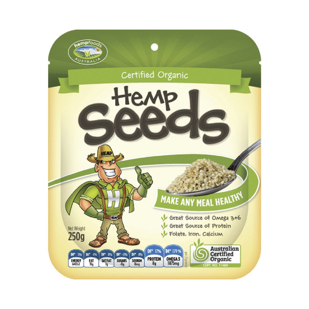 Hemp Seeds Hulled 250g by Hemp Foods Australia