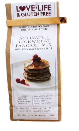 Activated Buckwheat Pancake Mix 400g by Love Life & Gluten Free