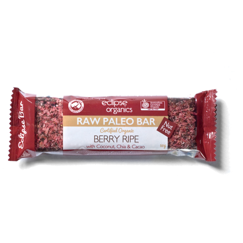 Organic Raw Paleo Bar: Berry Ripe 50g by Eclipse Organics