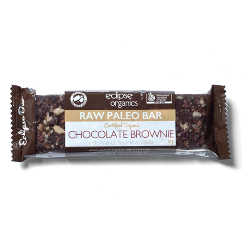 Organic Raw Paleo Bar: Chocolate Brownie 50g by Eclipse Organics