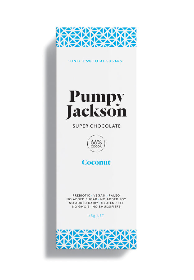 Vegan & Dairy Free Chocolate - Coconut 45g by Pumpy Jackson