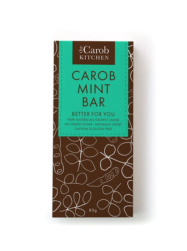Carob Mint Chocolate Bar 80g by The Carob Kitchen