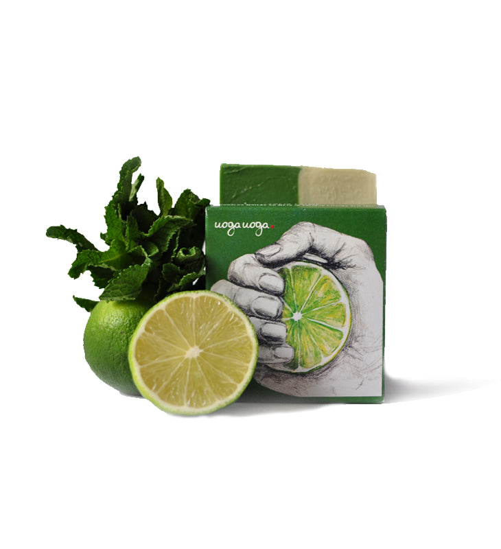 Lemon Squeezy - Soap with Mint and Lime Oils 100g