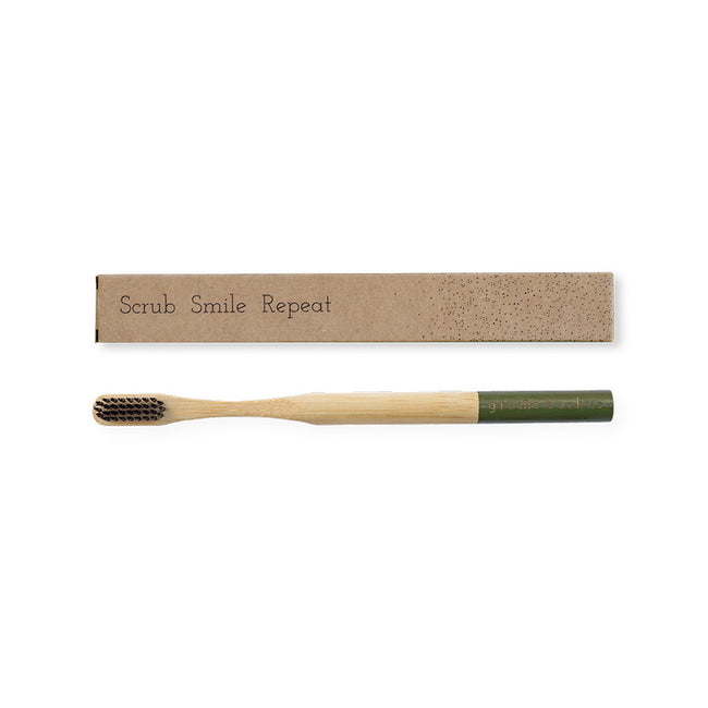 Bamboo Toothbrush Olive