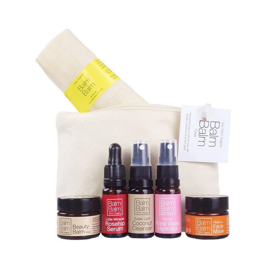 Balm Balm Starter Kit in Organic Cotton Make-Up Bag