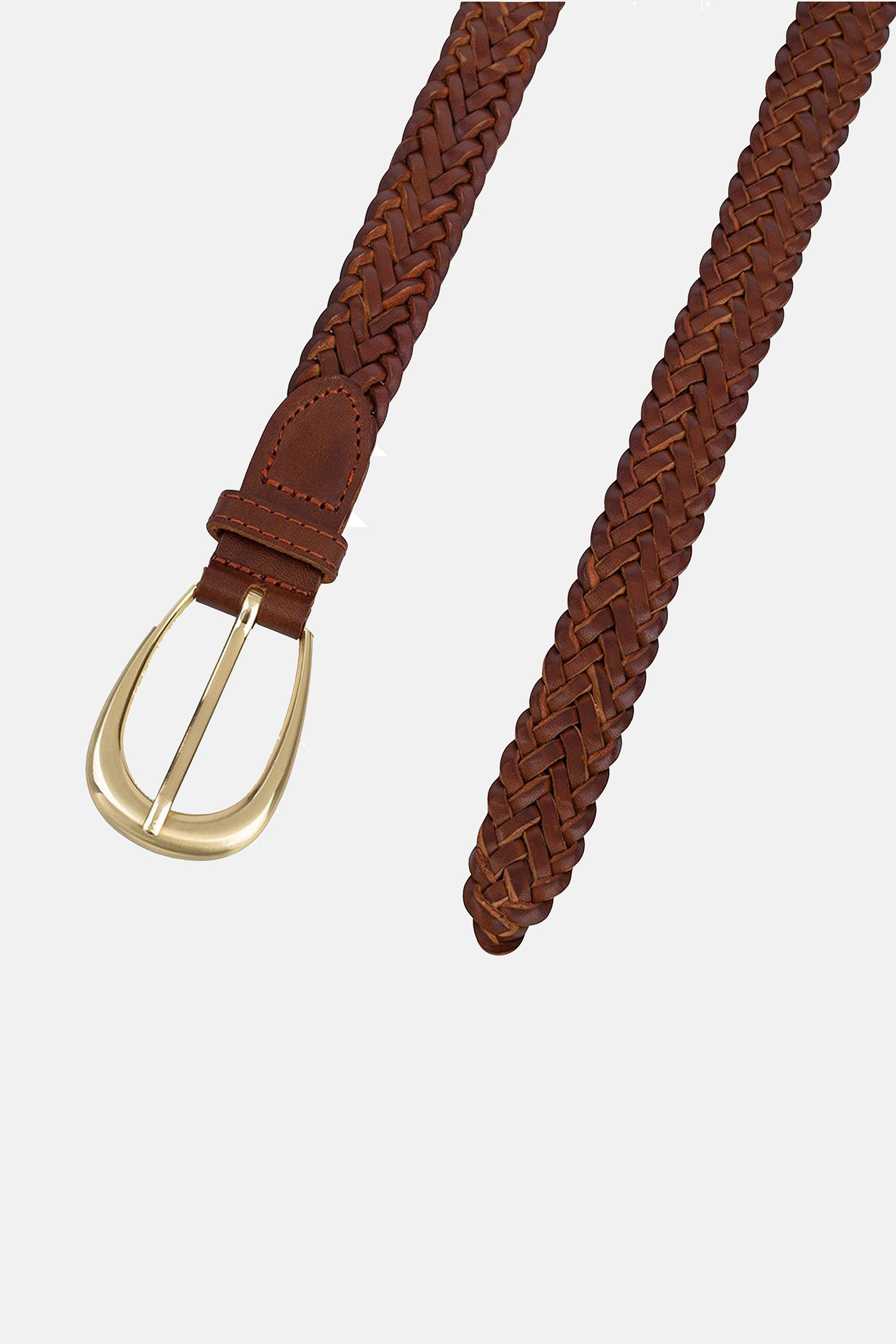The Annely Woven Belt - Vintage Tan