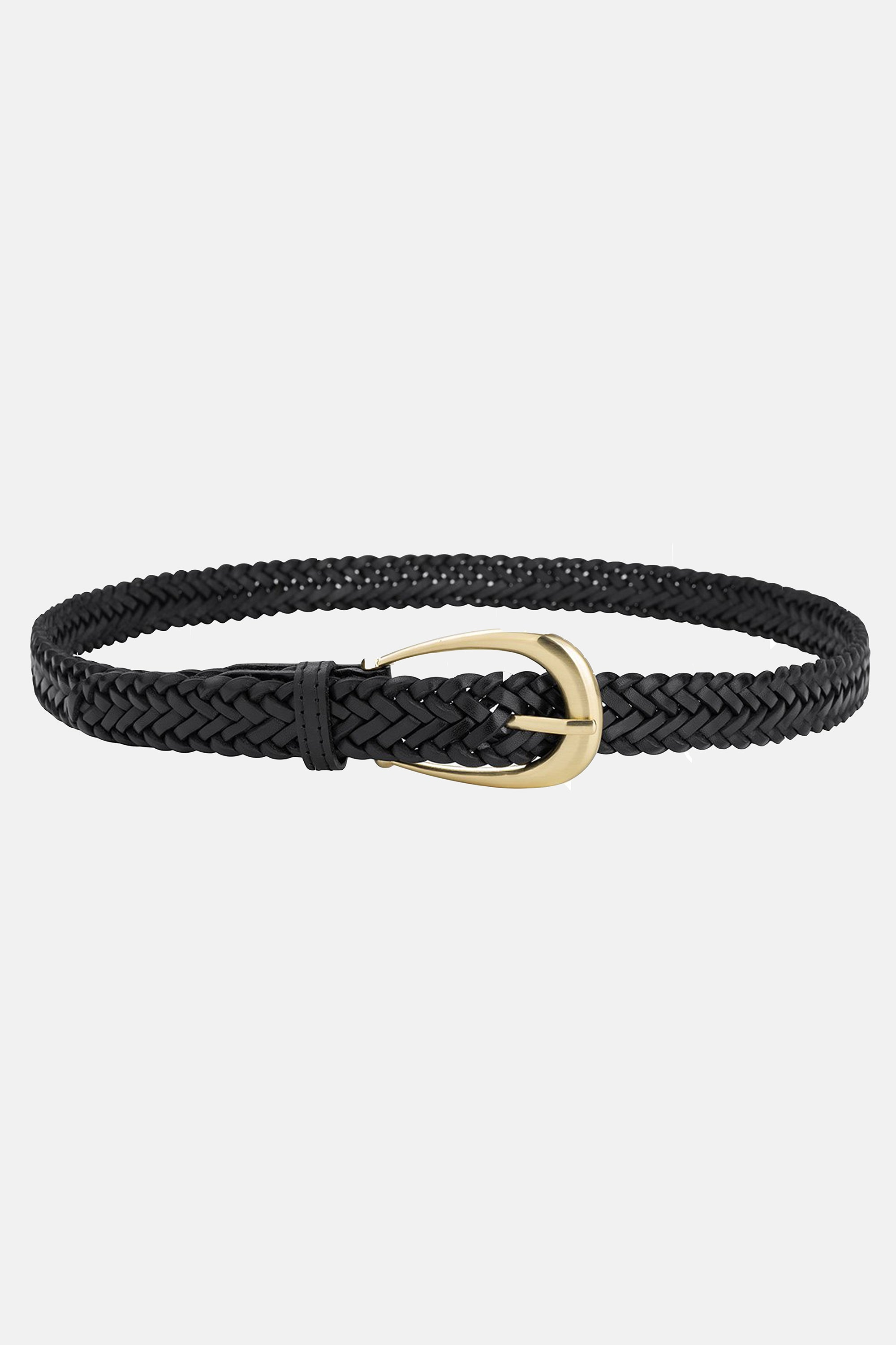 The Annely Woven Belt - Vintage Black