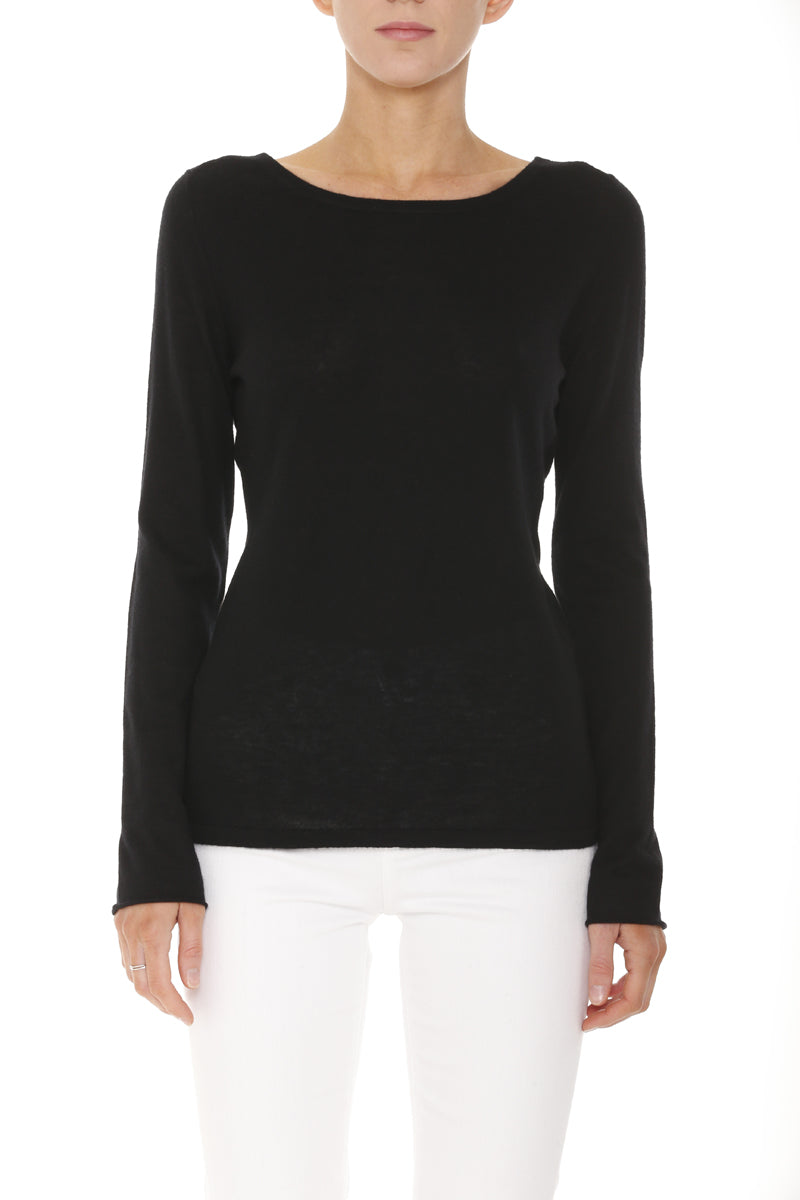 Cara Long Sleeve Cashmere Top