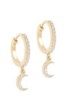 BYC 14K GOLD MOONLIGHT DREAMER HOOPS