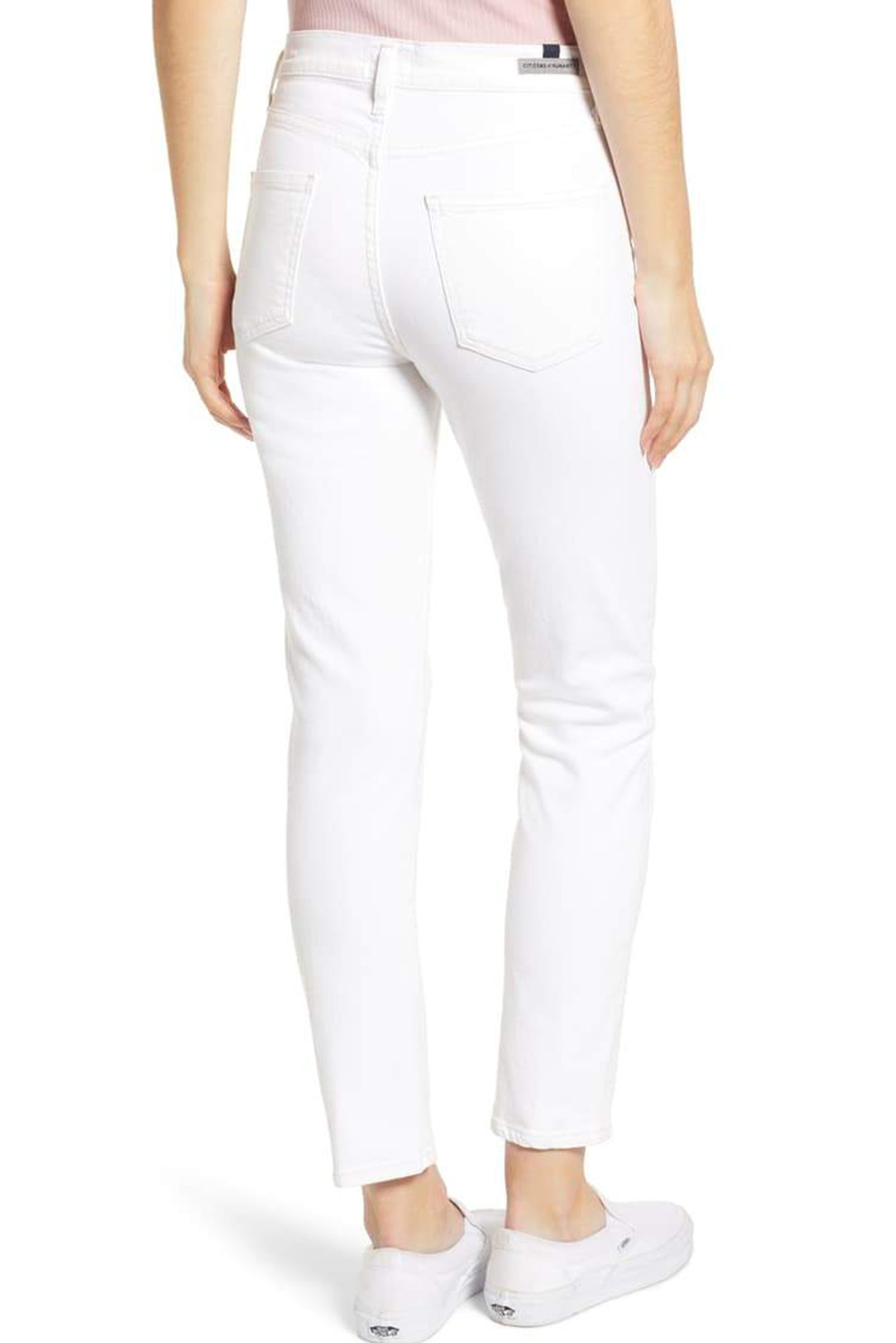 Harlow High Rise Ankle Jean (Sea Salt)