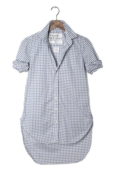 Grayson Check Shirt in Navy