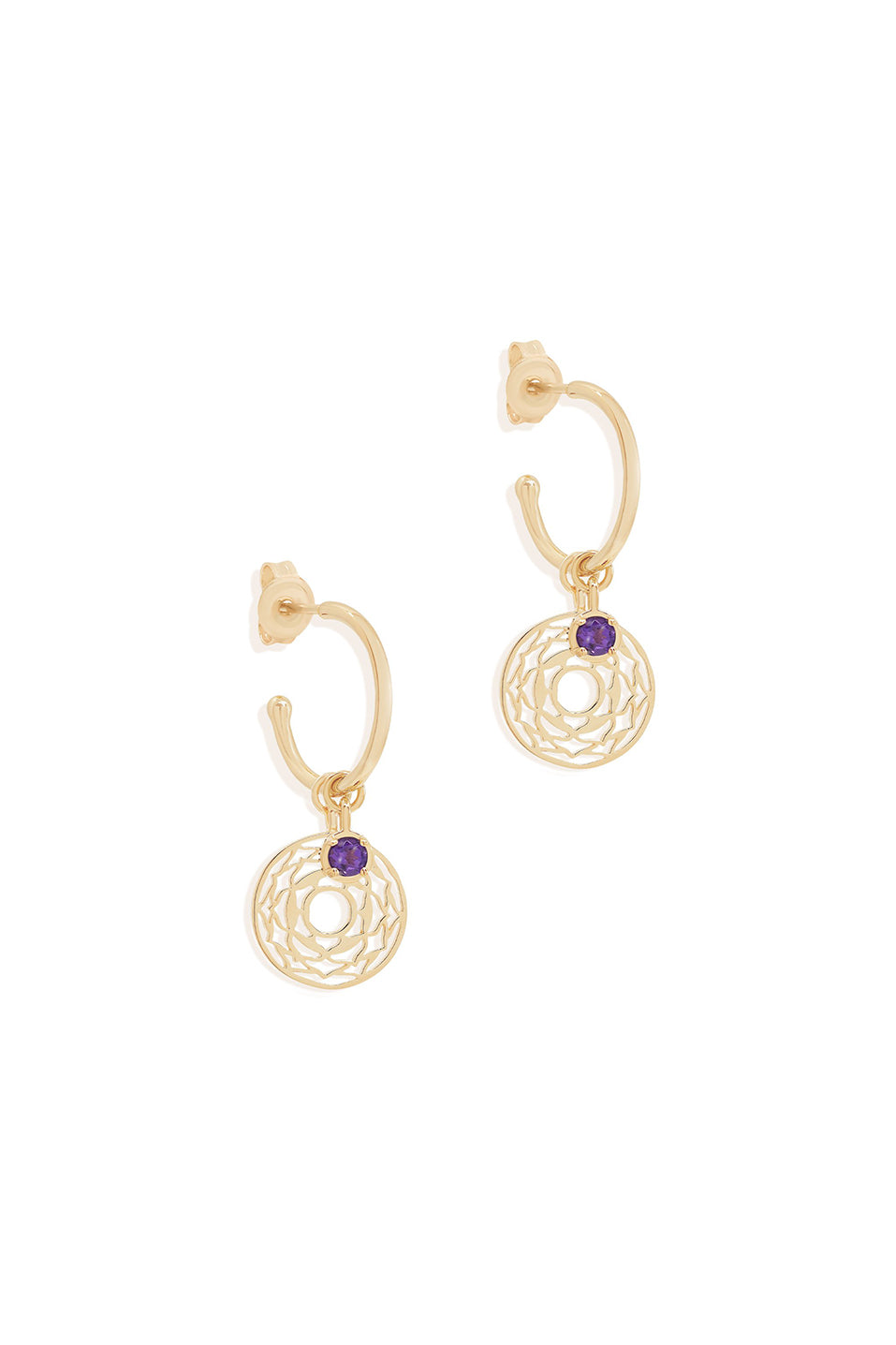 Gold I am Divinely Grounded Crown Chakra Hoops